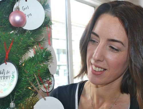 Cafe Branches Out with Gift Tag Christmas Tree for Foster Children